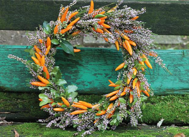 Ghirlanda con carote